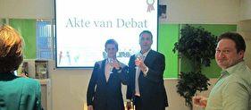 Persbericht: Feestelijke opening Nederlandse Debatclub bij ons op kantoor